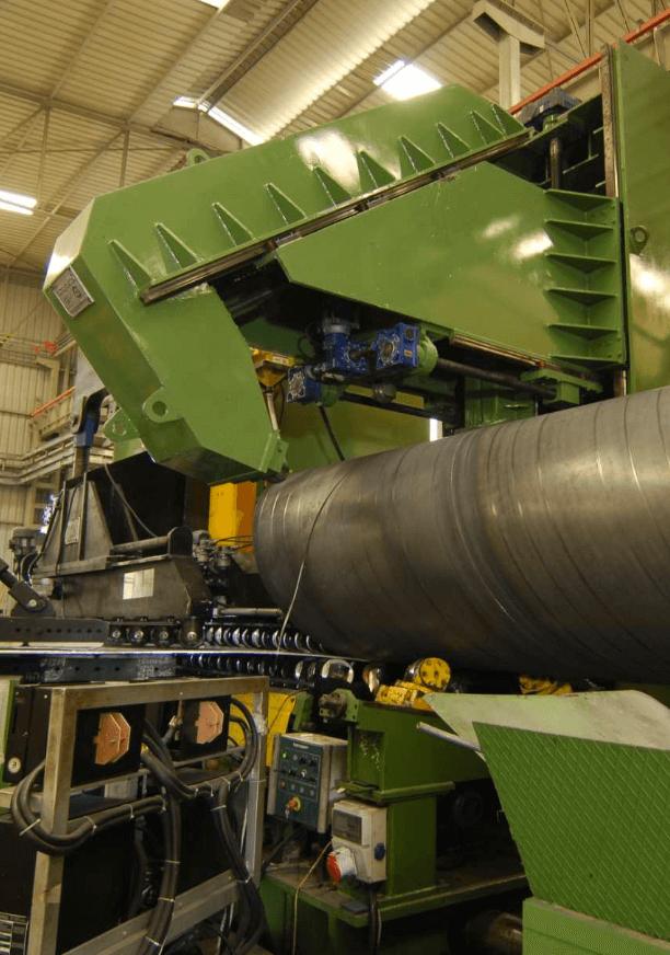 fabrication d'un tube acier en spirale