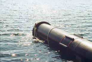 pose de tuyau sous-marin
